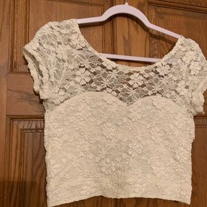 Hollister lace crop top NWT